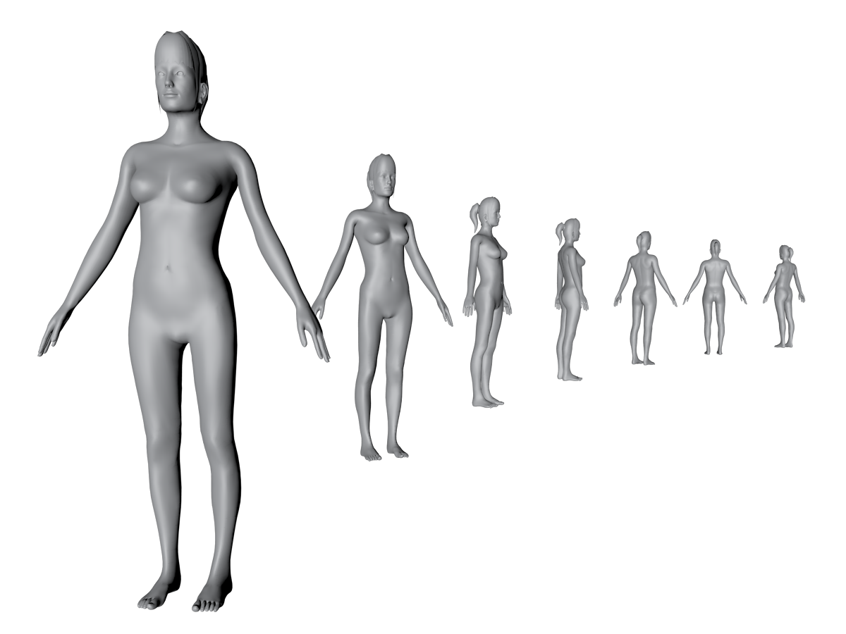 3D body scan female
