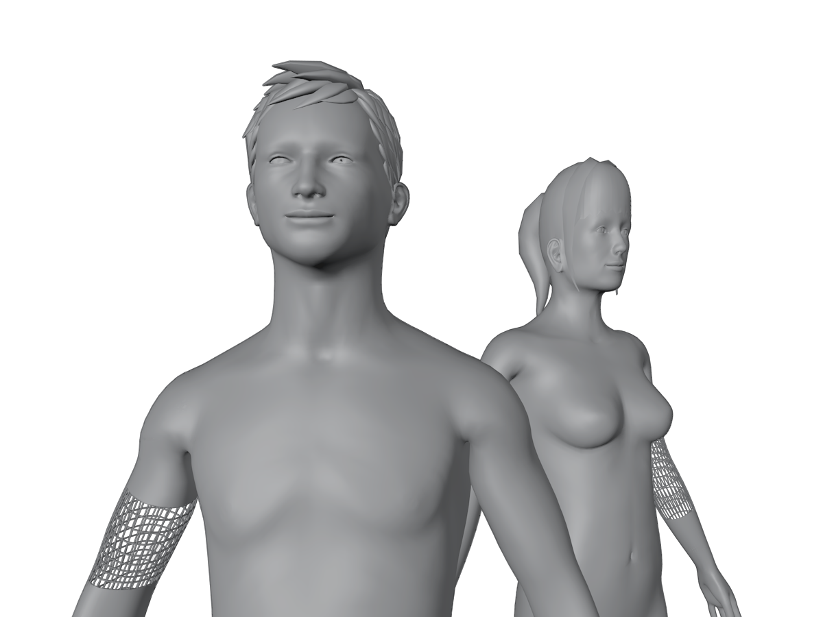 3D body scan male and female
